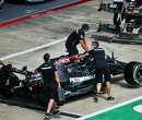 Black Mercedes livery breaks cover in Austria pit lane