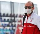 Robert Kubica in actie tijdens bandentest en VT1 in Barcelona