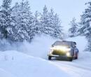 Valtteri Bottas finisht als zesde in de Arctic Lapland Rally