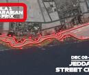 Dit is het circuit van Jeddah, het langste en snelste stratencircuit