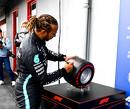 Hamilton en Mercedes testen in Imola nieuwe 18 inch Pirelli-banden