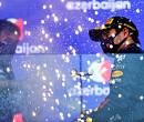 Sergio Perez vond het hartverwarmend om Max Verstappen onder podium te zien
