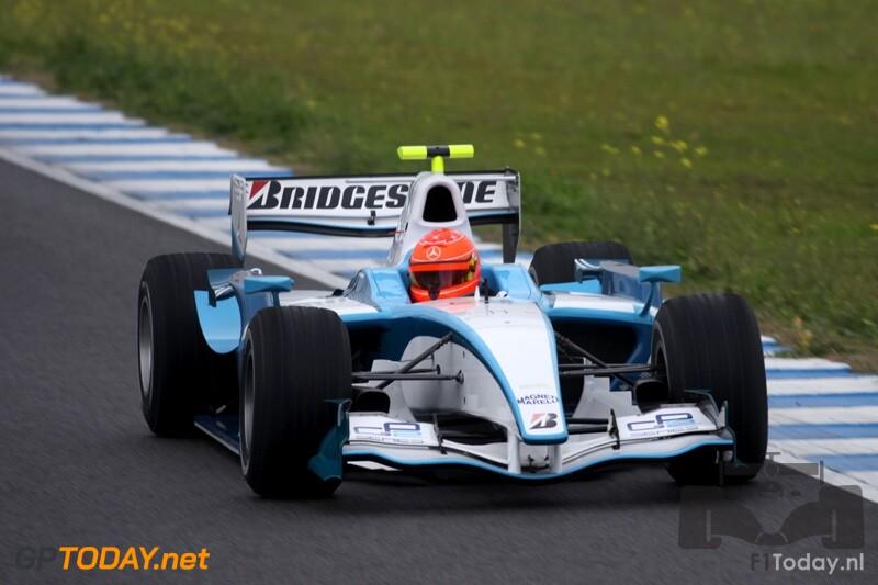 GP2-test Michael Schumacher op Jerez