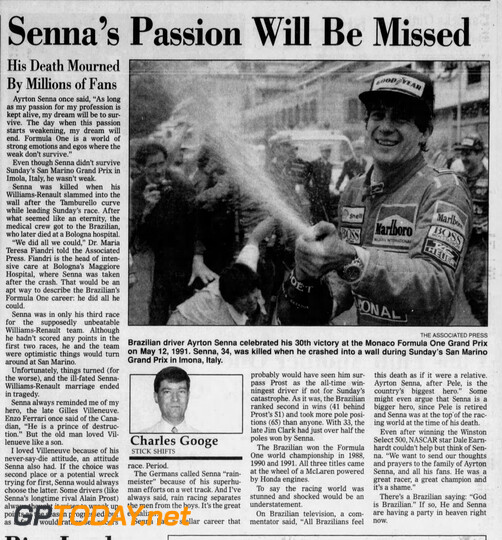 Ayrton Senna Special Newspapers