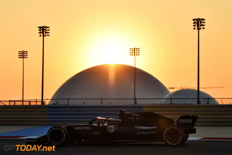 Fernando Alonso F1 test Renault Bahrain