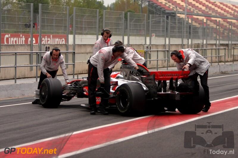 Testsessie Barcelona, 18 november 2008