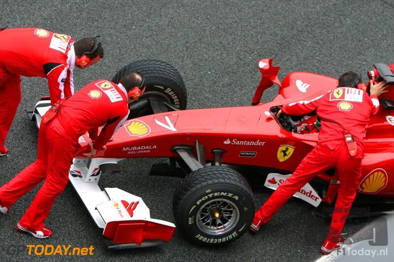 Testsessie Jerez, 18 februari 2010