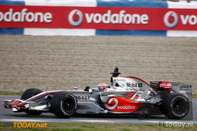 Testsessie Jerez, 9 januari 2008