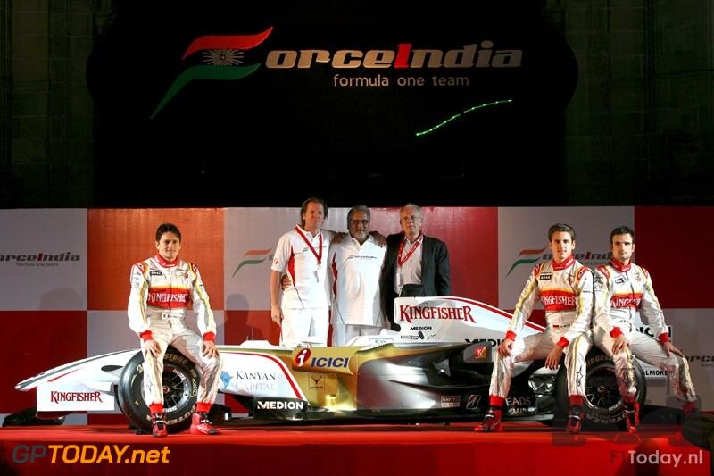 Force India VJM-01 - Mumbai, 7 februari 2008