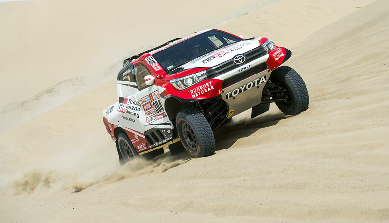 Giniel De Villiers (ZAF) of Toyota Gazoo Racing...