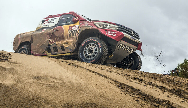 Nasser Al-Attiyah (QAT) of Toyota Gazoo Racing SA races during stage 7 of Rally Dakar 2018 from La Paz to Uyuni, Bolivia on January 13, 2018. // Flavien Duhamel/Red Bull Content Pool // P-20180113-00289 // Usage for editorial use only // Please go to www.redbullcontentpool.com for further information. //  Nasser Al-Attiyah Flavien Duhamel