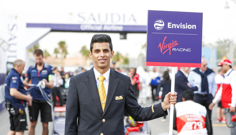 Envision Virgin Racing grid person  Zak Mauger ...
