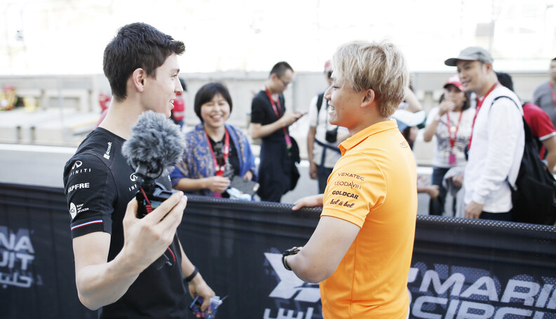 FIA Formula 2 YAS MARINA CIRCUIT, UNITED ARAB EMIRATES - NOVEMBER 29: Marino Sato (JPN, CAMPOS RACING) and Jack Aitken (GBR, CAMPOS RACING) during the Abu Dhabi at Yas Marina Circuit on November 29, 2019 in Yas Marina Circuit, United Arab Emirates. (Photo by Joe Portlock) FIA Formula 2 Joe Portlock  United Arab Emirates  FIA Formula 2