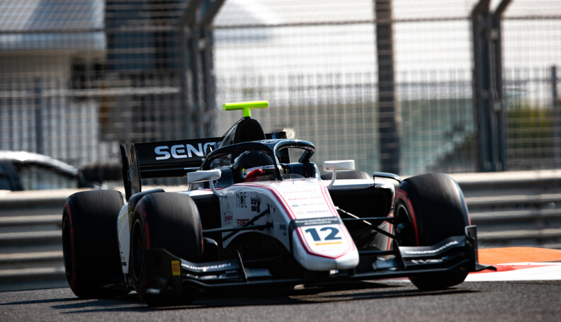 FIA Formula 2 YAS MARINA CIRCUIT, UNITED ARAB EMIRATES - NOVEMBER 29: Matevos Isakkyan (RUS, SAUBER JUNIOR TEAM BY CHAROUZ) during the Abu Dhabi at Yas Marina Circuit on November 29, 2019 in Yas Marina Circuit, United Arab Emirates. (Photo by Joe Portlock) FIA Formula 2 Joe Portlock  United Arab Emirates  FIA Formula 2