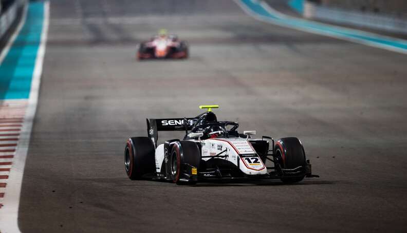 FIA Formula 2 YAS MARINA CIRCUIT, UNITED ARAB EMIRATES - NOVEMBER 30: Matevos Isakkyan (RUS, SAUBER JUNIOR TEAM BY CHAROUZ) during the Abu Dhabi at Yas Marina Circuit on November 30, 2019 in Yas Marina Circuit, United Arab Emirates. (Photo by Joe Portlock / LAT Images / FIA F2 Championship) FIA Formula 2 Joe Portlock  United Arab Emirates  FIA Formula 2