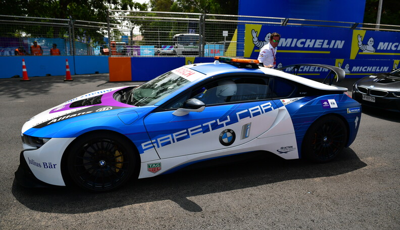Media Laps in the BMW i8 Safety car   Simon Gal...