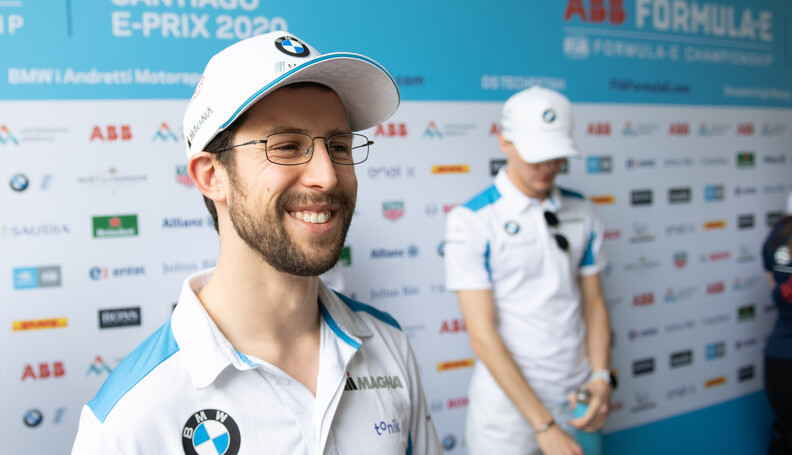 Alexander Sims (GBR) BMW I Andretti Motorsports talks to the press   Simon Galloway