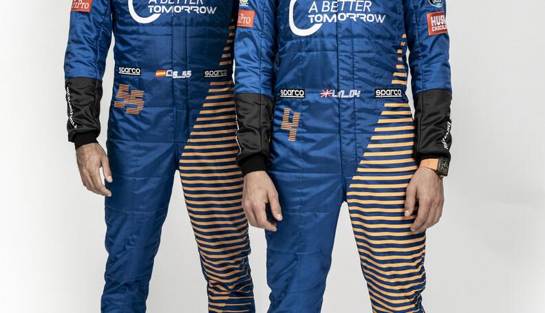 Lando Norris and Carlos Sainz staggered  Malcol...