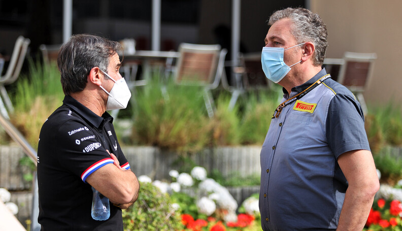 Davide Brivio and Mario Isola