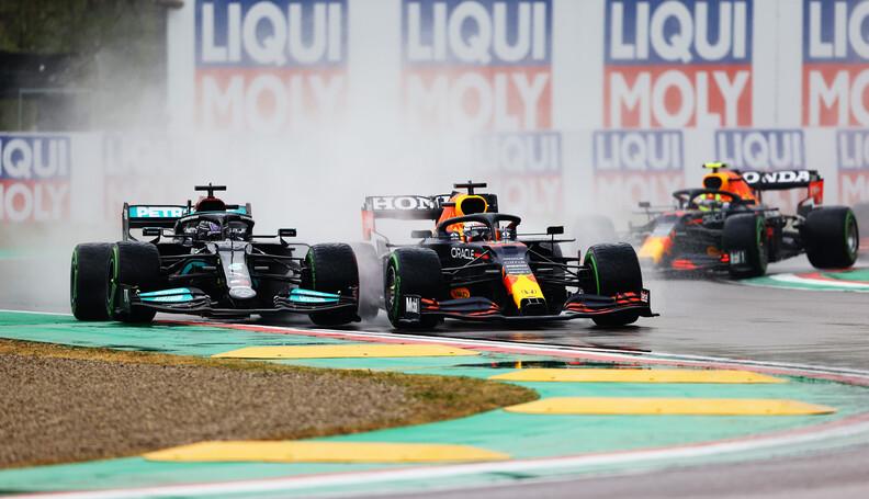 IMOLA, ITALY - APRIL 18: Lewis Hamilton of Grea...