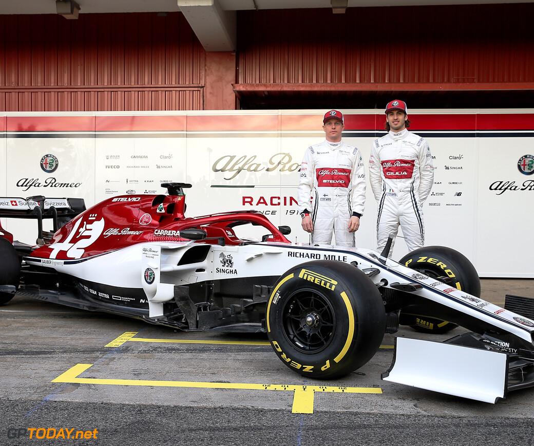 Alfa Romeo Launch 2019 Car In Barcelona Pit Lane